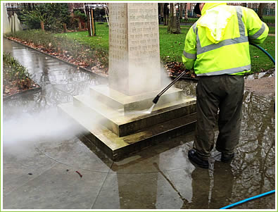 Stone Cleaning by AGS Graffiti - Kennington, London, SE11